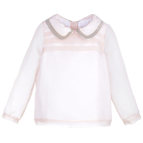 Girls Sheer Organza Blouse