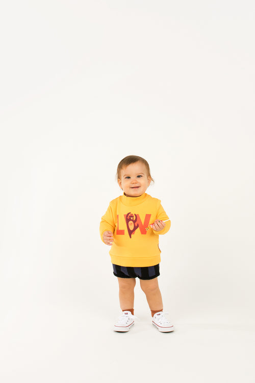 """Lw Citizen"" Sweatshirt  Yellow/Red"