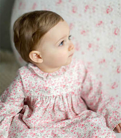 BABY GIRLS PINK ROBE & BLOOMER SET
