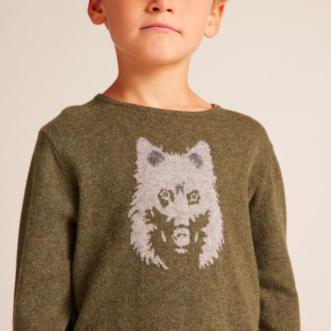 BOYS Khaki Midnight sweater