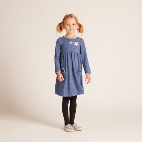 GIRLS Blue Falling Space Dress