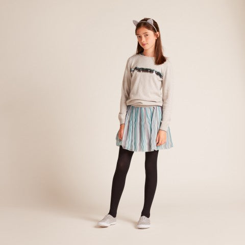 GIRLS Grey Wave sweater
