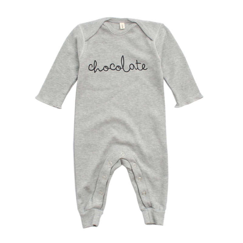 Grey Playsuit Chocolate