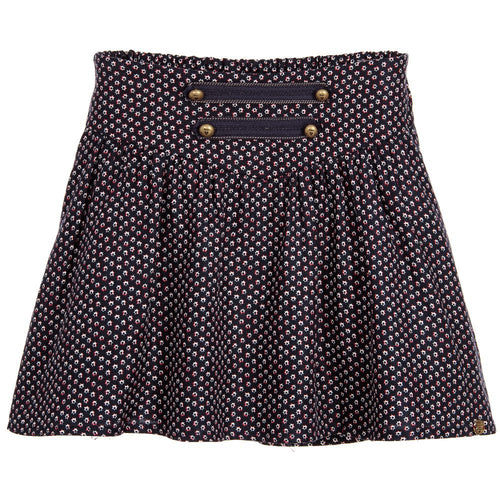GIRLS PRINTED SKIRT WITH BUTTONS CAPTAIN NAVY PRINTED