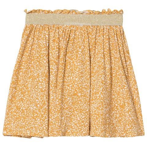Girls Yellow Cream Gardenia Maria Circle Skirt