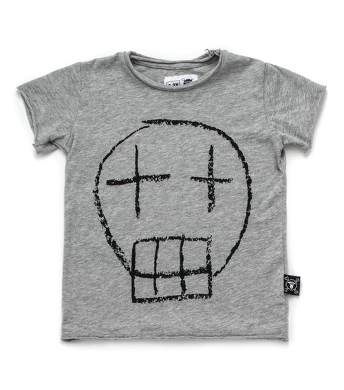 Nununu Sketch Skull T-Shirt Heather Grey