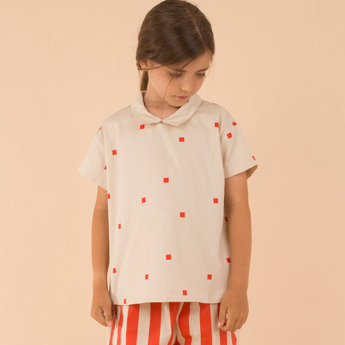 Carmine Square Dot Button Down Shirt