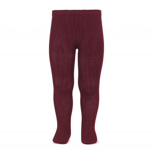 Condor Ribbed Tights - Burgundy