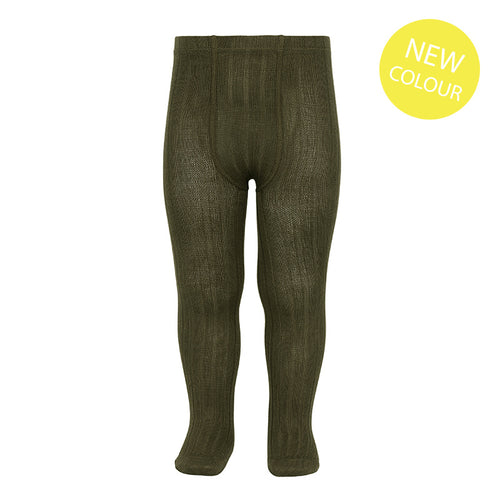 Condor Ribbed Tights - Seaweed
