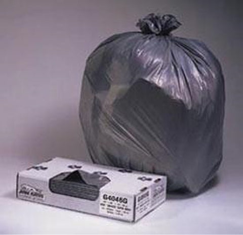 Reorder # H6640, Silver Sack Heavy Duty Can Liners 33 Gallon