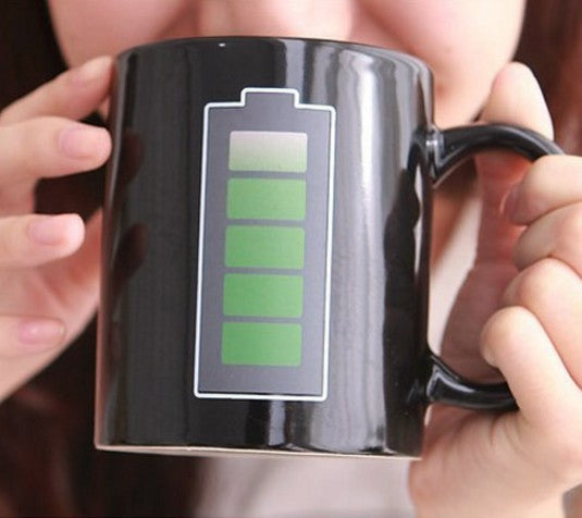 Battery Magic Coffee Mug Changes With Heat Kitchen Gadget Life