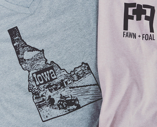 Fawn + Foal Iowa Idaho shirt