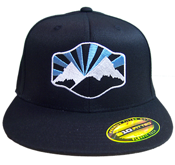 Idaho Mountain Flat-Bill Fitted Hat