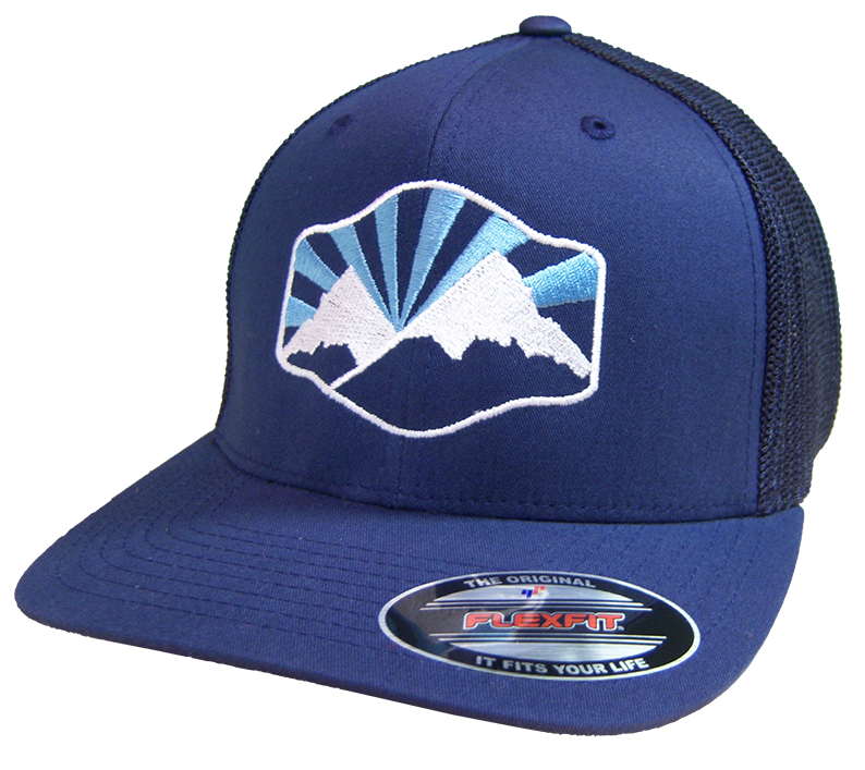 Idaho Mountains Flex-Fit Mesh Back Hat