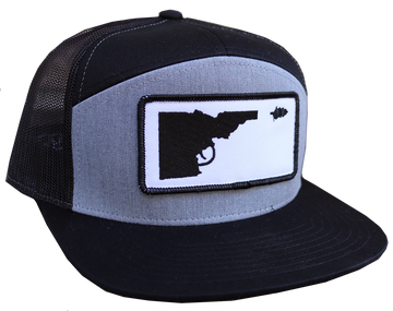 Idaho Tree-Gun Patch Snapback Flat-bill Hat