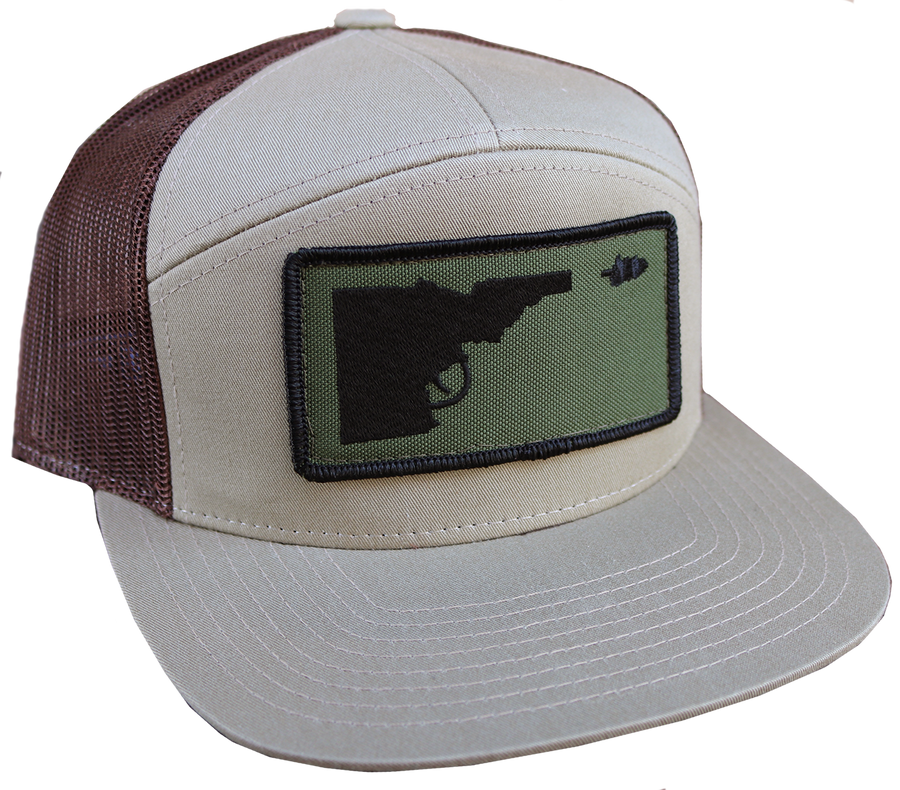 LAST CHANCE Idaho Tree-Gun Patch Snapback Flat-Bill Hat