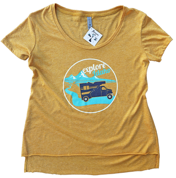 Explore Idaho Ladies Scoop Tee