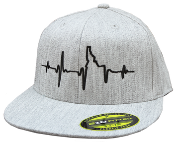 Heartbeat EKG Idaho Flat-Bill Fitted Hat