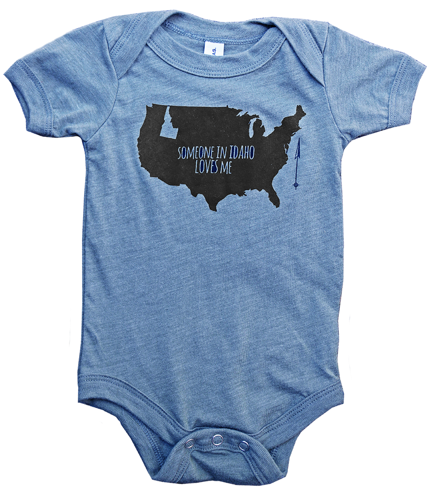 F+F Someone Loves Me Baby Onesie