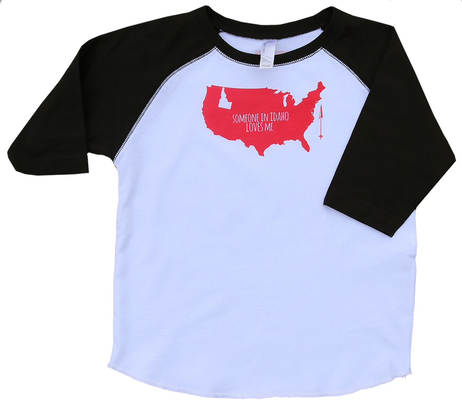 LIIMITED EDITION F+F Someone Loves Me Raglan Toddler Tee