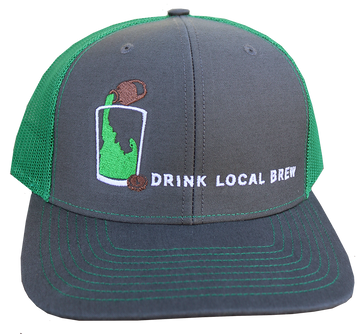 LAST CHANCE Green Idaho Brew Adjustable Mesh Hat