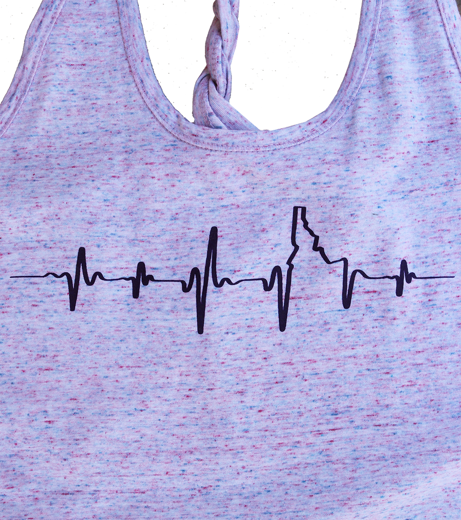 Idaho Heartbeat Ladies Twisty Tank