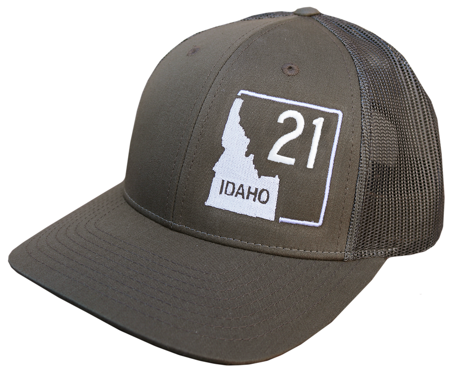 Idaho Highway 21 Adjustable Mesh Back Hat