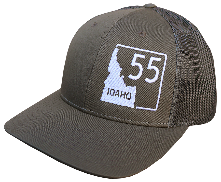 Idaho Highway 55 Adjustable Mesh Back Hat