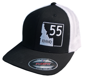 Idaho Highway 55 Flex-Fit Mesh Back Hat