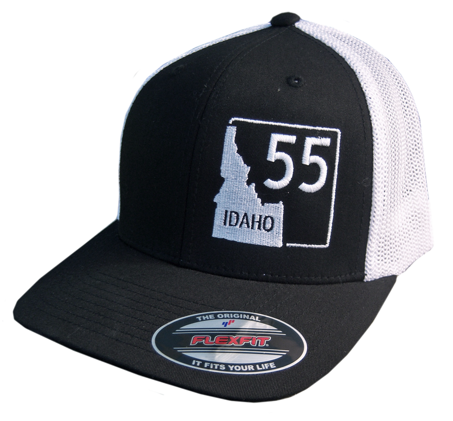 Idaho Highway 55 Flex Fit Mesh-back Hat