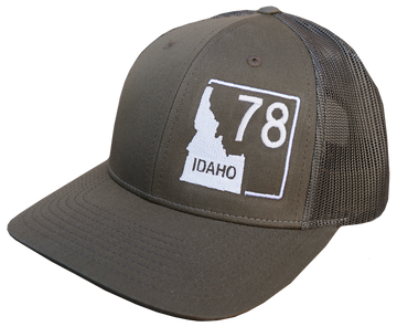 Idaho Highway 78 Adjustable Mesh Back Hat
