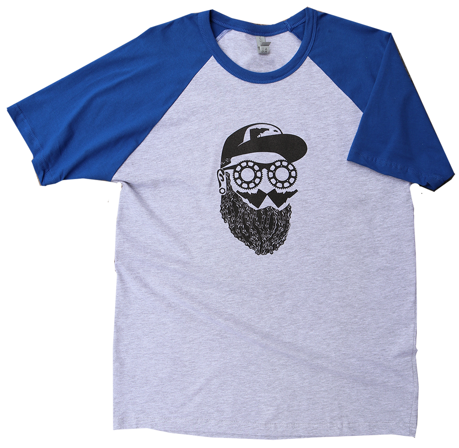 Idaho Bike Guy Mens Raglan Tee