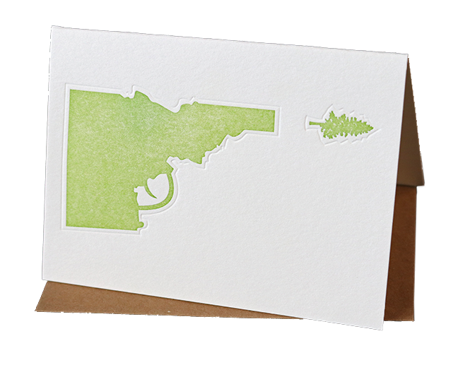 Idaho Tree-Gun Greeting Card