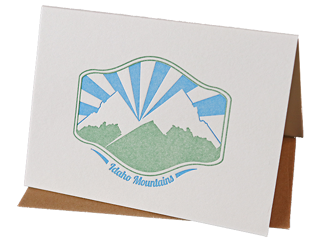 Idaho Mountains Greeting Card