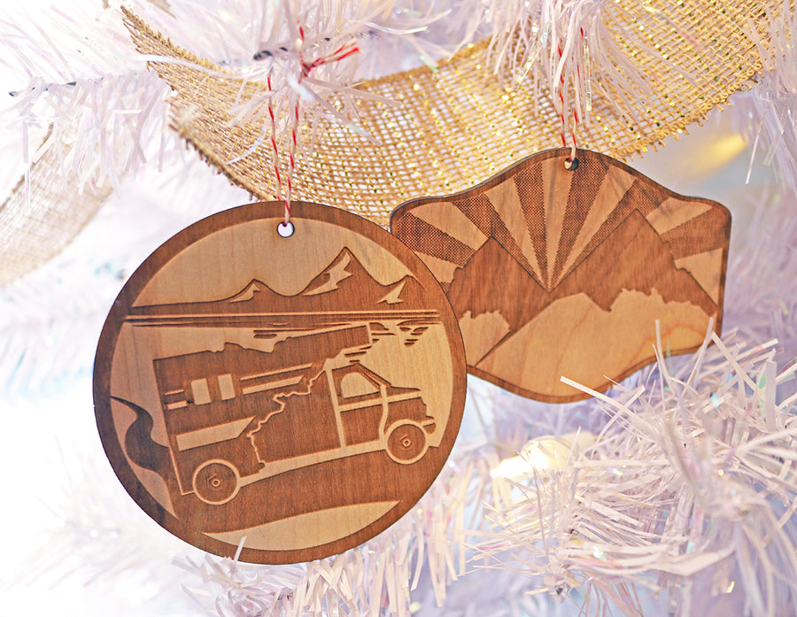 Idaho Mountains Ornament