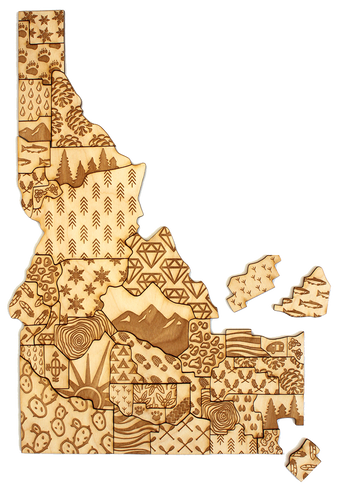 Idaho Counties Puzzle by Compass Goods