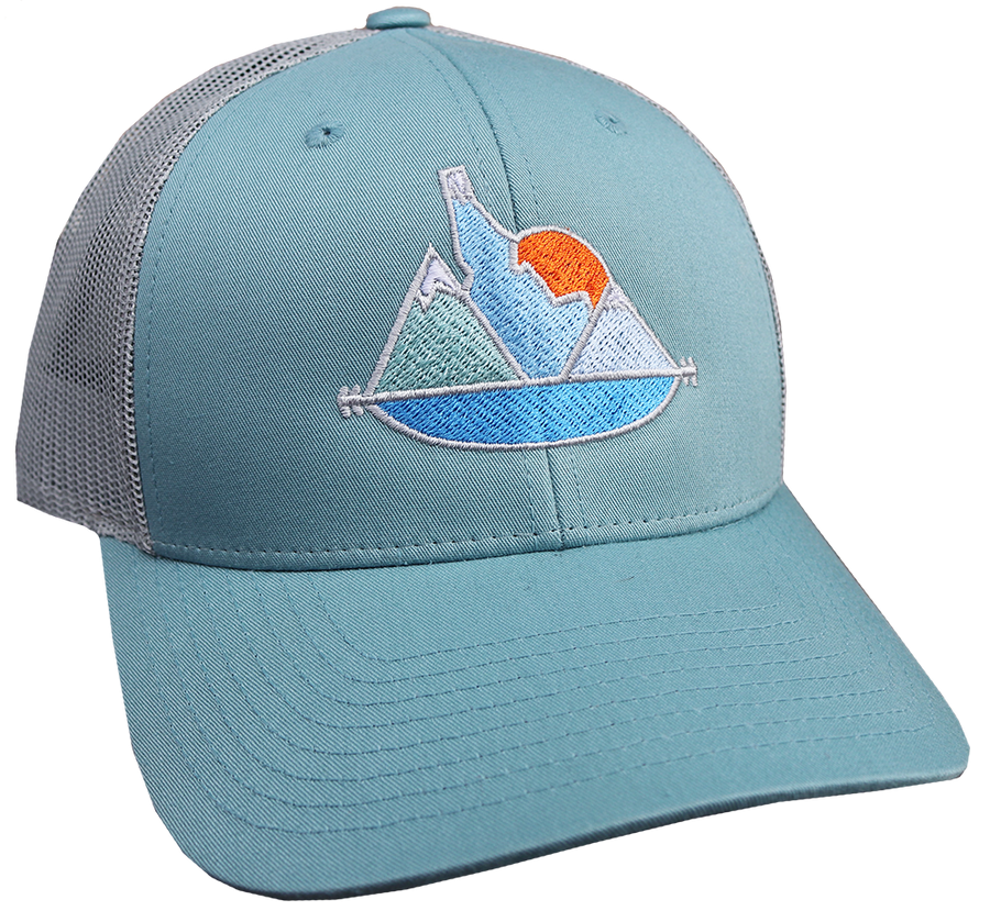 Idaho Sunset Adjustable Mesh Hat