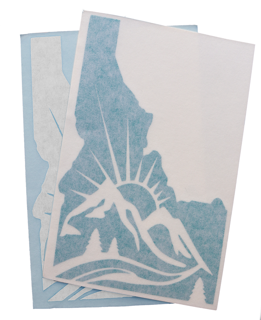 Idaho Mountain Sun Sticker