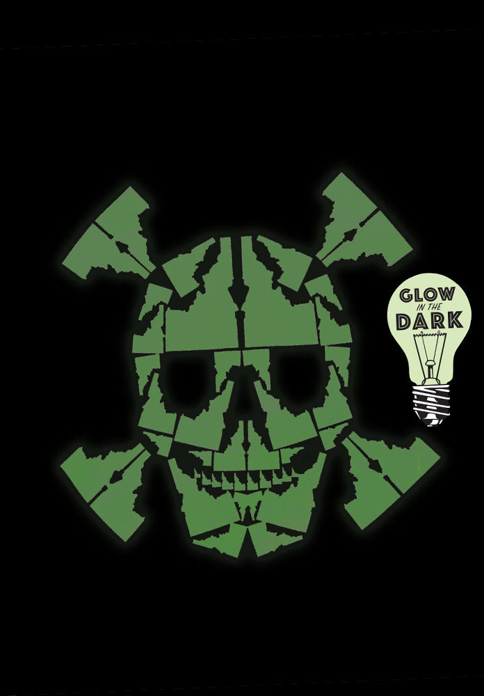 Glow-in-the-Dark Idaho Skull Mens Tee - LIMITED EDITION