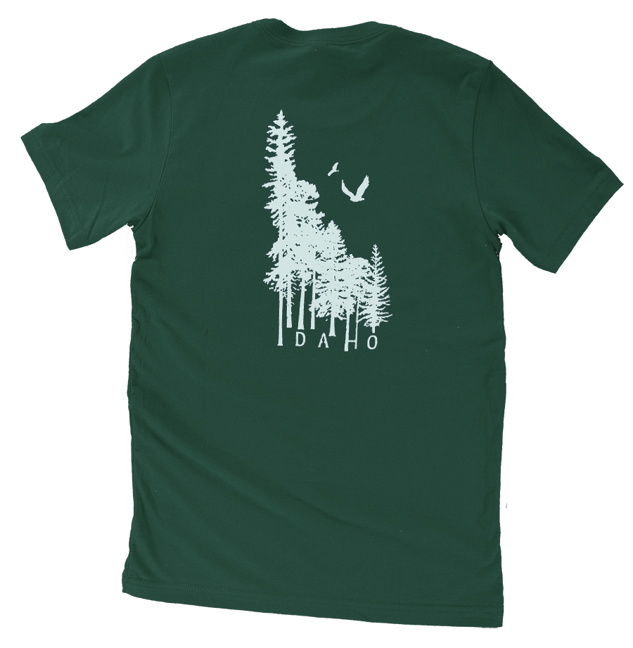 Idaho Wilderness Mens Tee (back)