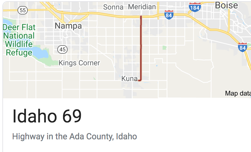 Idaho Highway 69 Sticker