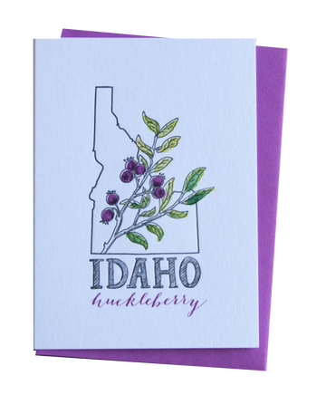 Huckleberry Idaho Greeting Card