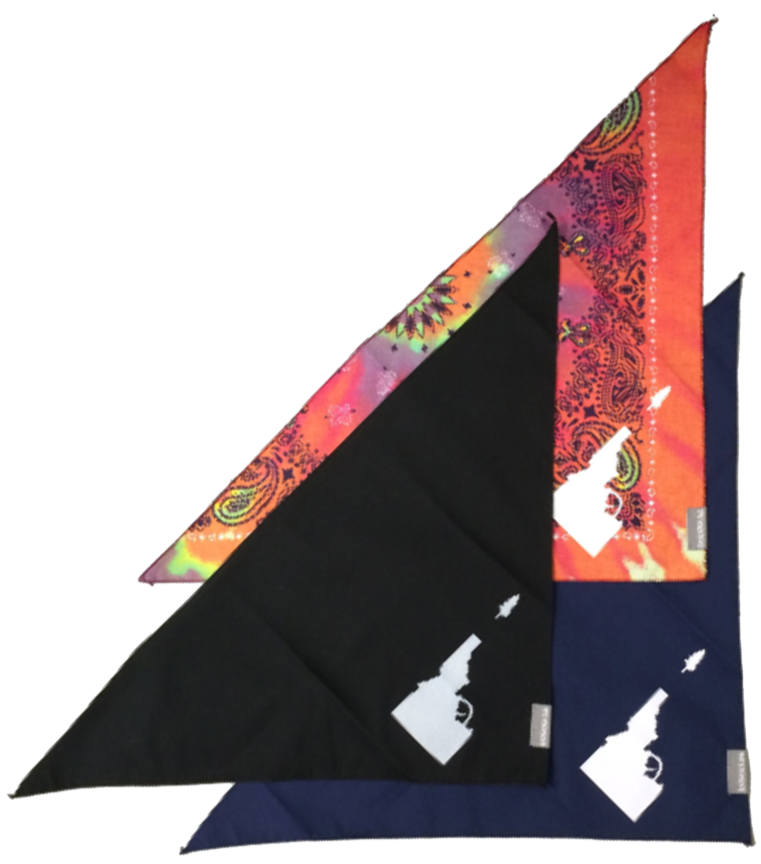 Idaho Tree-Gun Triangle Bandana