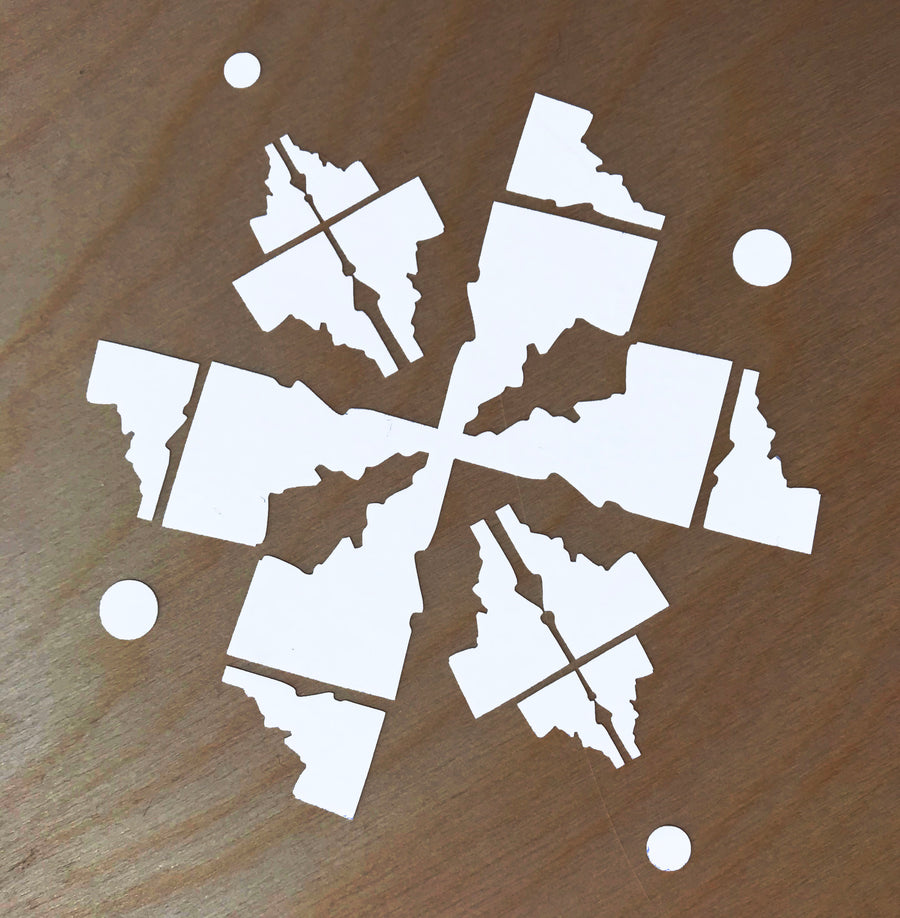 Idaho Snowflake Sticker
