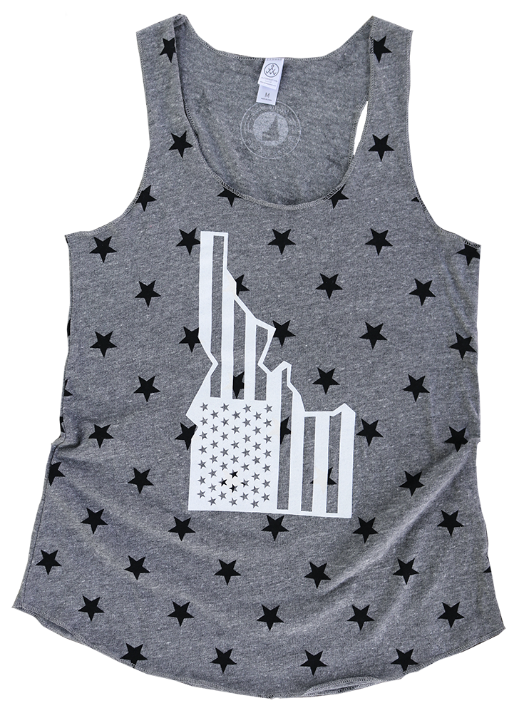LAST CHANCE - Star-Spangled Idaho Ladies Star Tank