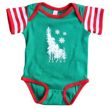 Idaho Winter Wilderness Baby Onesie