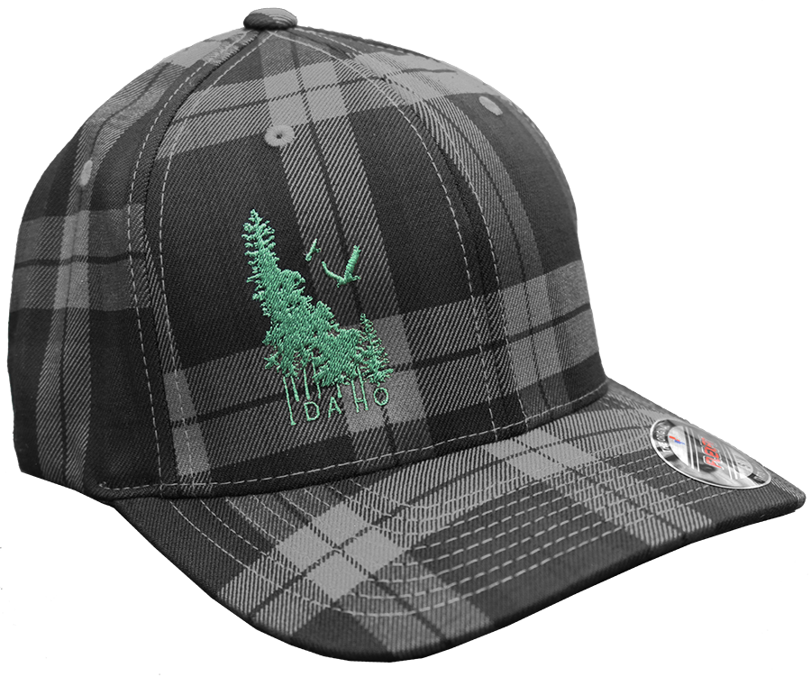 Idaho Wilderness Fitted Plaid Hat