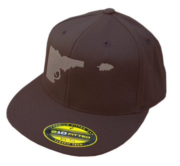 Idaho Tree-Gun Flat-Bill Fitted Hat