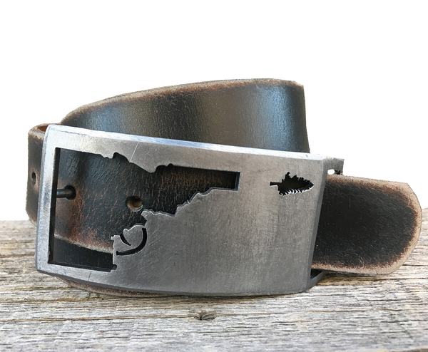 Idaho Tree-Gun Belt Buckle