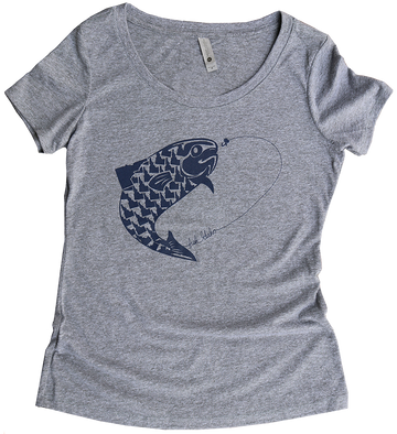 Fish Idaho Ladies Scoop Tee